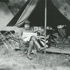 Captain Blenski at Camp Douglas