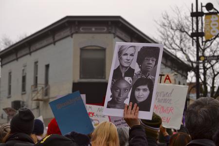 Women on sign