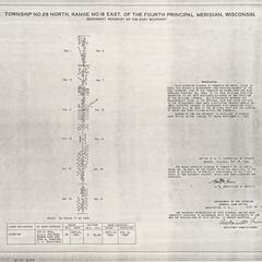 [Public Land Survey System map: Wisconsin Township 29 North, Range 16 East]