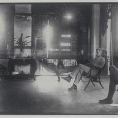 General Lawton and his aides relax at his headquarters, 1899