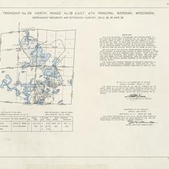 [Public Land Survey System map: Wisconsin Township 33 North, Range 10 East]
