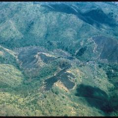 Air view--swidden fields