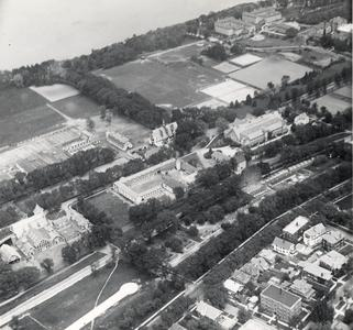 Aerial view of west campus