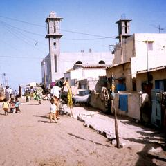 Street with Mosque Being Constructed in the Fishermen's  Village