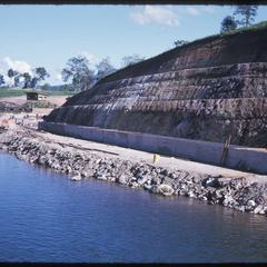 Below dam