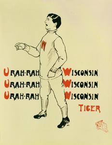 Tiger mascot cheerleader