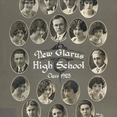 1925 New Glarus High School graduating class