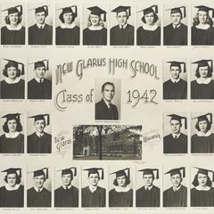 1942 New Glarus High School graduating class
