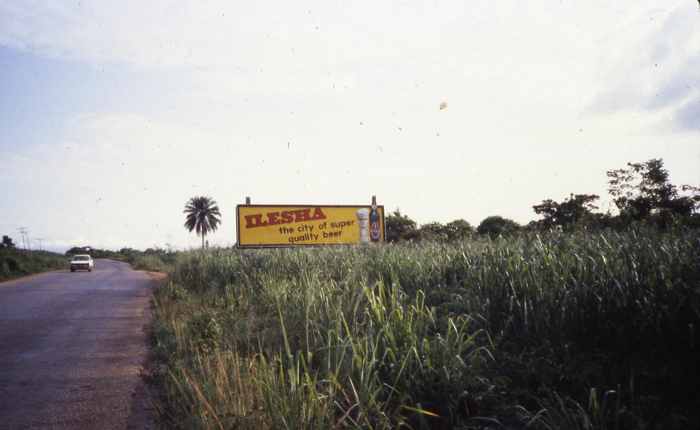 Billboard for Ilesa in outskirts of Ilesa
