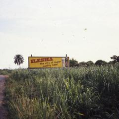 Billboard for Ilesa in outskirts of Ilesa