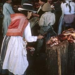 Selling meat, Abancay