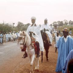 Hausa Horsemen Arriving at Prayer-Ground during Sallah Celebration