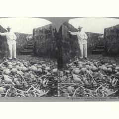The bone pit in Santa Cruz Cemetery, 1902