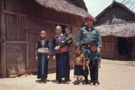 Hmong official with his family