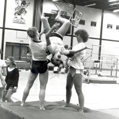 Gymnastics students