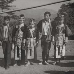 White Hmong girls in the village of Nam Phet in Houa Khong Province