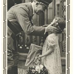 [Hitler greets child admirer]