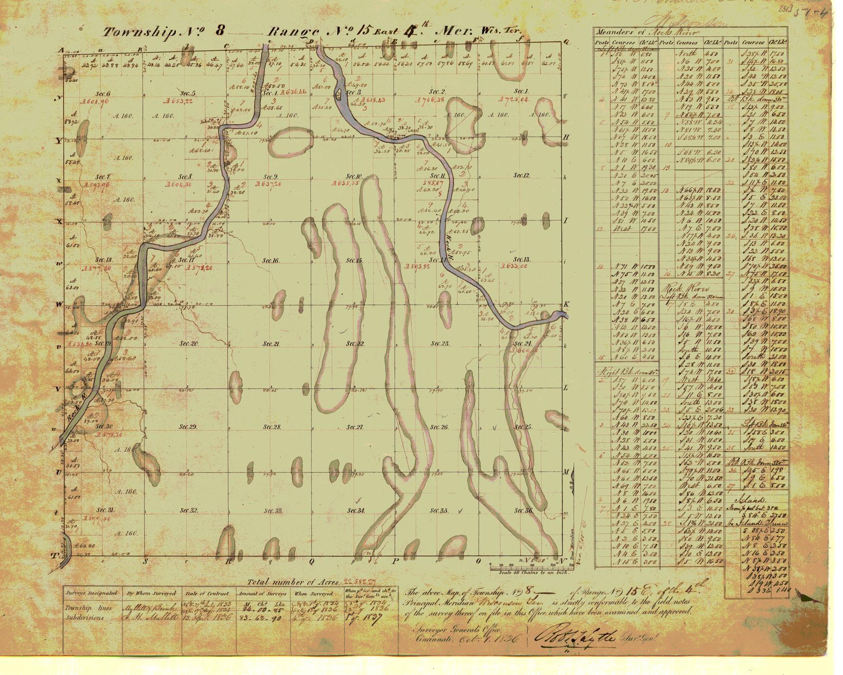 [Public Land Survey System map: Wisconsin Township 08 North, Range 15 East]