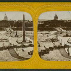 [Military review in the Place de la Concorde]