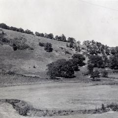 Hilltop and stream