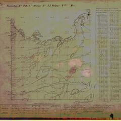 [Public Land Survey System map: Wisconsin Township 48 North, Range 15 West]