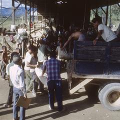 Unloading truck