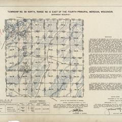 [Public Land Survey System map: Wisconsin Township 38 North, Range 12 East]