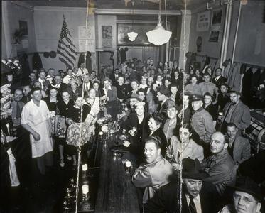 Revelers at Jack Peters' tavern