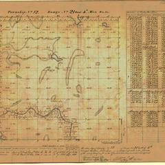 [Public Land Survey System map: Wisconsin Township 12 North, Range 21 East]