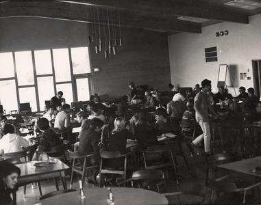 Student lounge, Manitowoc, October 1966