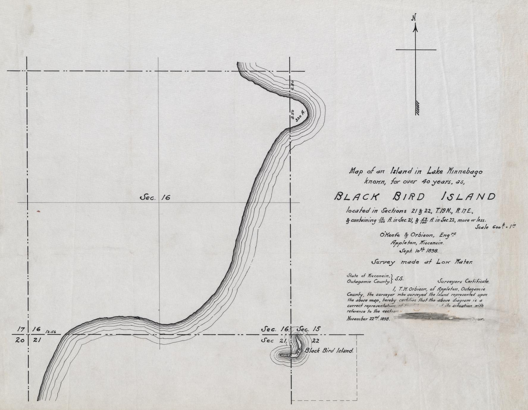 [Public Land Survey System map: Wisconsin Township 19 North, Range 17 East]