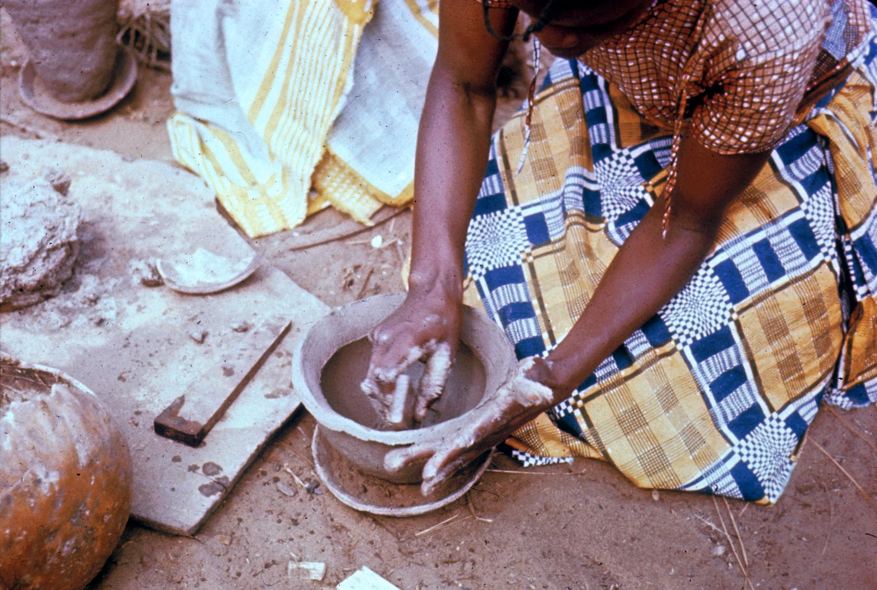 Woman Making Pottery at Kwilu