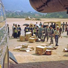 Air America aircraft and Hmong at Long Tieng
