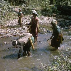 Ethnic Khmu' women fishing