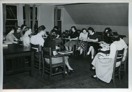 Stout Christian Fellowship members at a meeting
