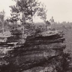 Eidemiller atop Dresbach cliff