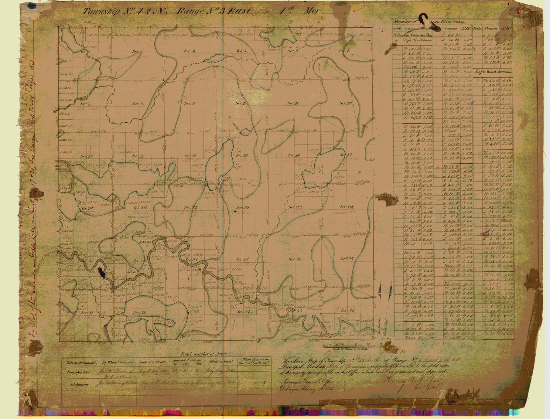 [Public Land Survey System map: Wisconsin Township 42 North, Range 03 East]