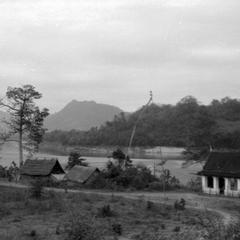 Sala along Mekong near Luang Prabang
