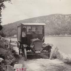Driving along Devil's Lake