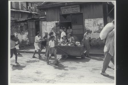 Refugees and patients liberated from Philippine General Hospital, Manila, 1945