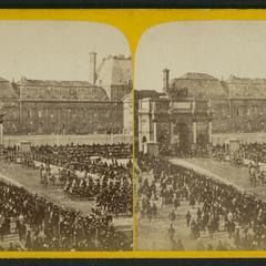 Retour aux Tuileries : l'Empereur : une fête industrielle