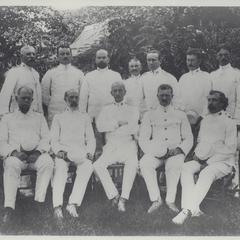 Group photo of American officers (Mindanao Sulu Command), Zamboanga, 1899-1902
