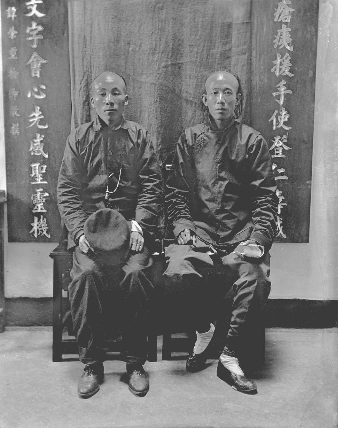 [Portrait of two men]