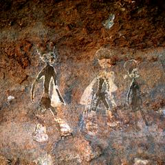 Petroglyph : Three Human Figures