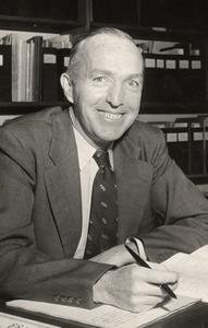 Joseph Hickey at his desk