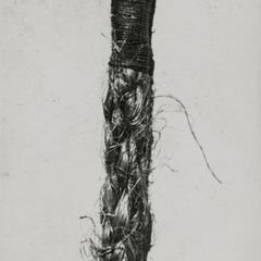 Frayed fiber rope