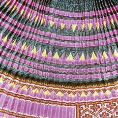 Blue Hmong (Hmong Njua) pleated skirt in Houa Khong Province