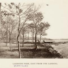 Lakeside Park, east from the landing