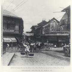 Street scene in Binondo, Manila's business district, Manila, 1901