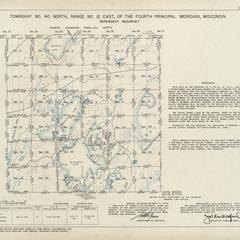 [Public Land Survey System map: Wisconsin Township 40 North, Range 12 East]